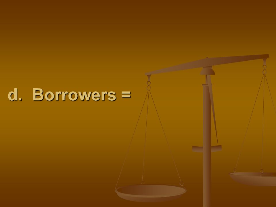 d. Borrowers =