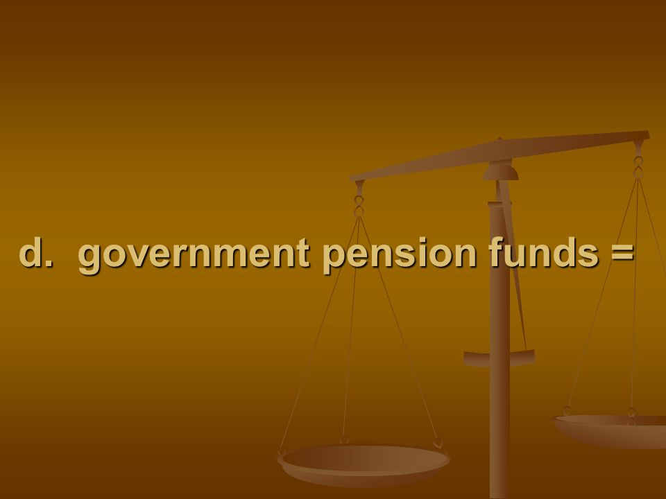 d. government pension funds =