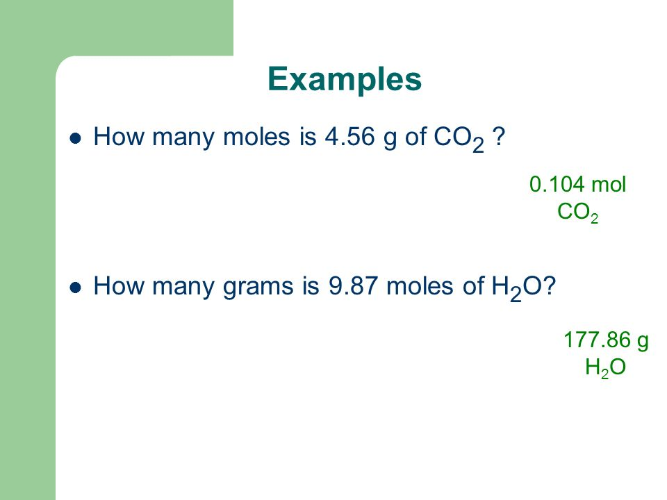 For example How many moles is 5.69 g of NaOH.