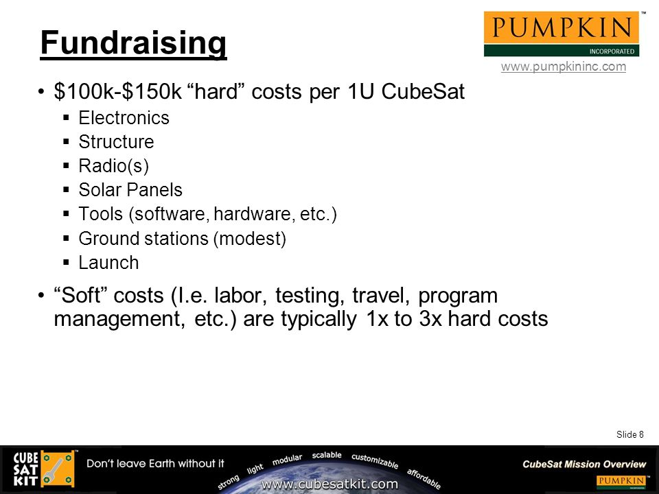 Slide 1 Small Spacecraft Missions – How About Flying a
