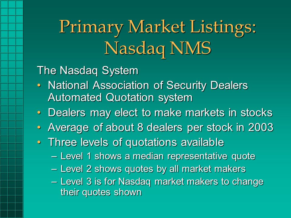 Chapter 6 Organization And Functioning Of Securities Markets Ppt