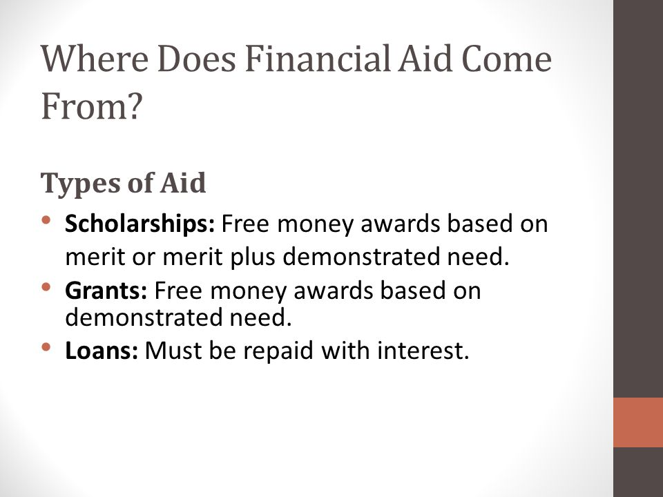 Where Does Financial Aid Come From.