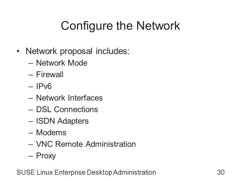 SUSE Linux Enterprise Desktop Administration Chapter 1 Install SUSE