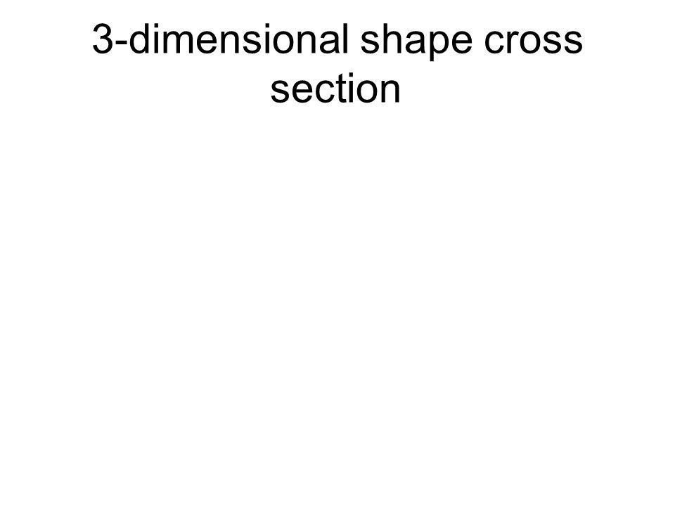 3-dimensional shape cross section