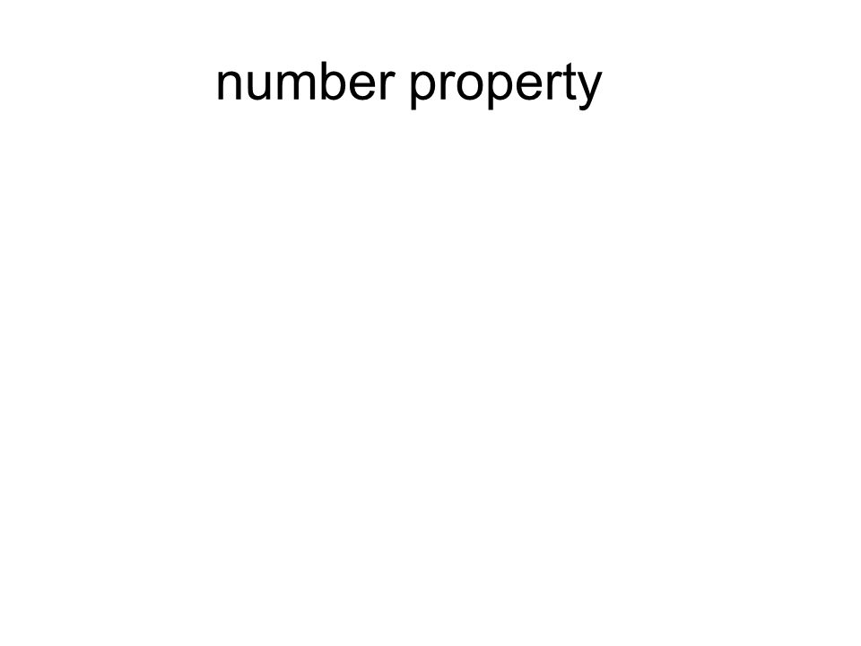 number property