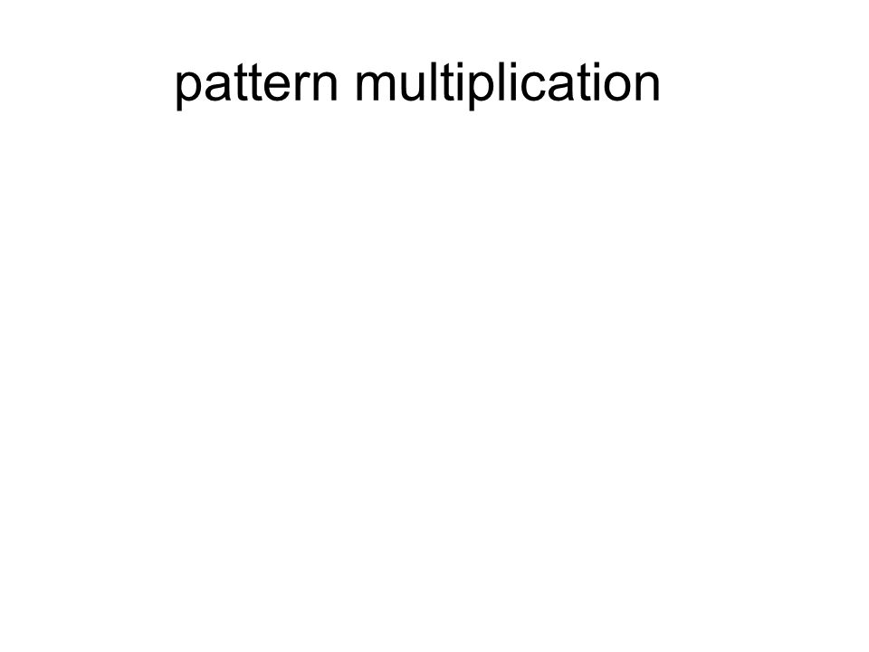 pattern multiplication