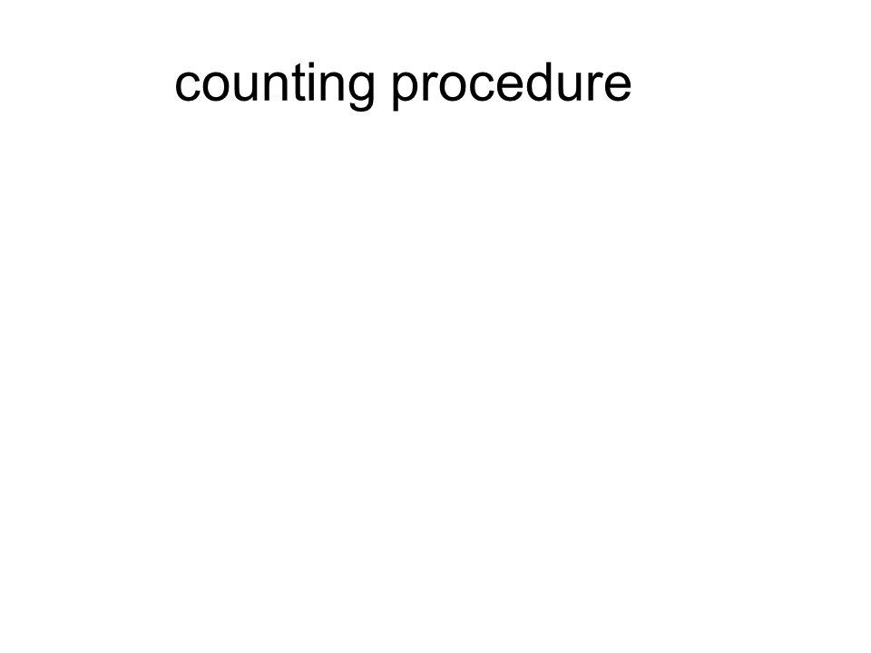 counting procedure