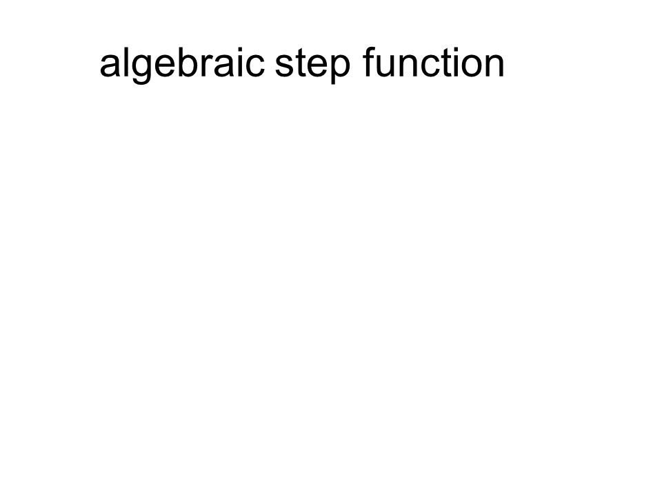 algebraic step function