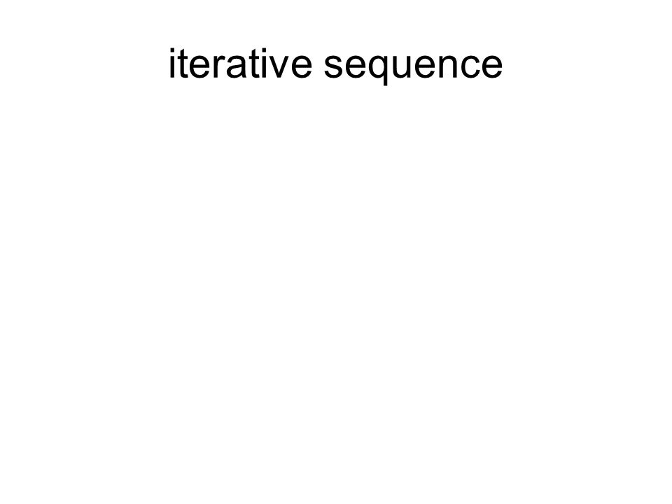 iterative sequence