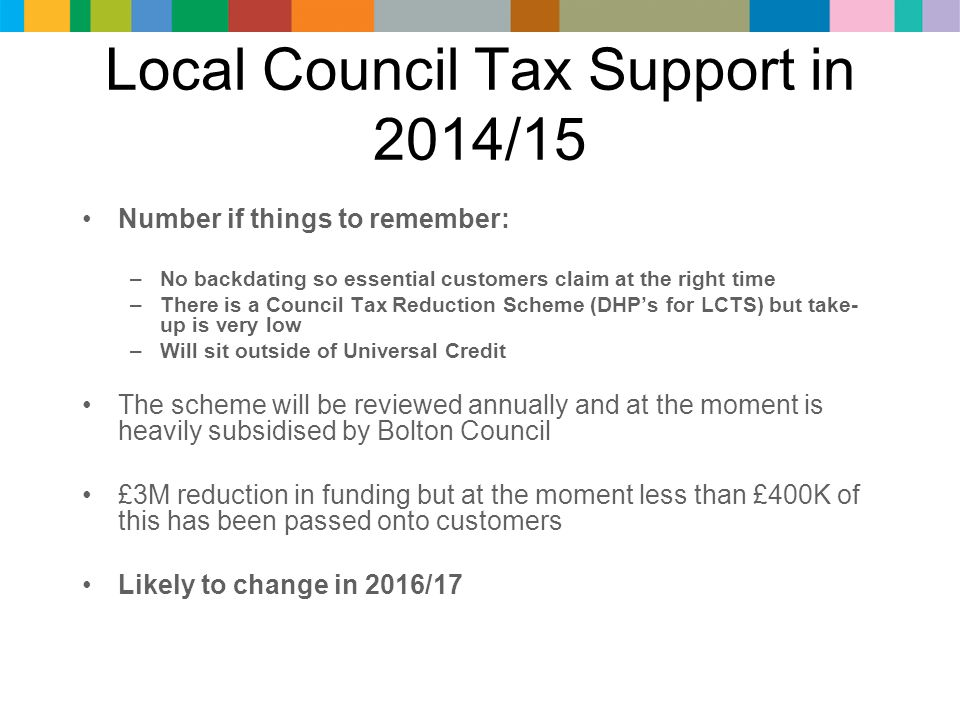 Council tax benefit backdating rules