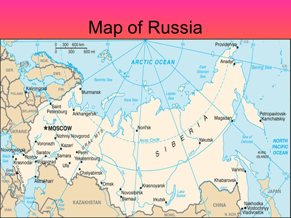 Where Is Siberia On A World Map.Russia Moscow S Red Square Taiga In Siberia Map Of Russia Ppt
