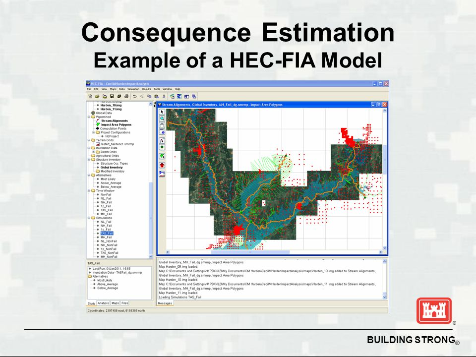 BUILDING STRONG ® Consequence Estimation Example of a HEC-FIA Model