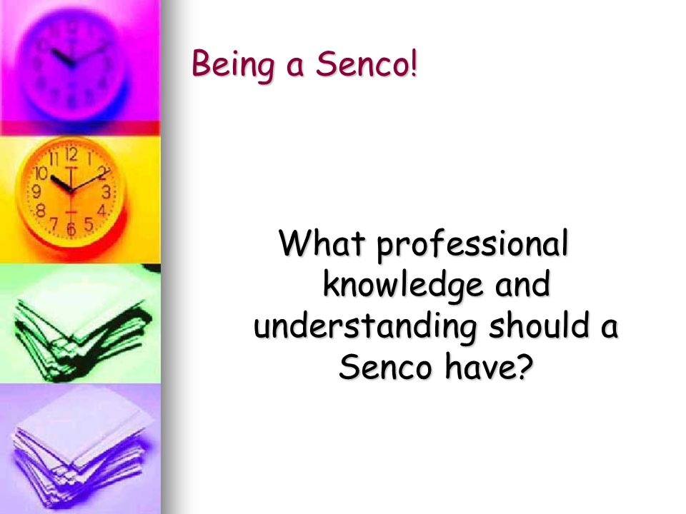 Being a Senco! What professional knowledge and understanding should a Senco have