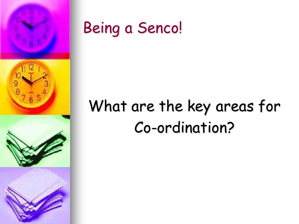 Being a Senco! What are the key areas for Co-ordination