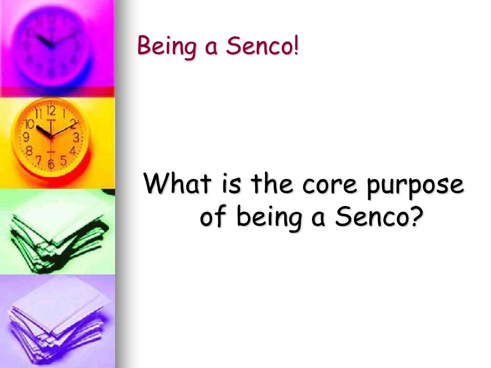 What is the core purpose of being a Senco