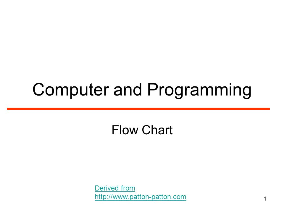1 Computer And Programming Flow Chart Derived From Ppt Download