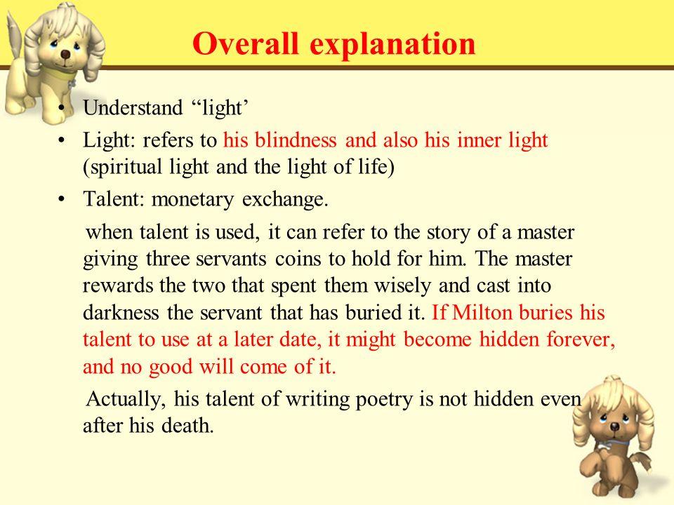 john milton on his blindness poem