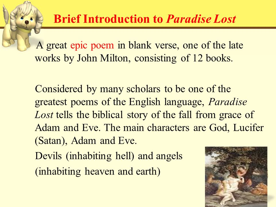what is the theme of miltons paradise lost