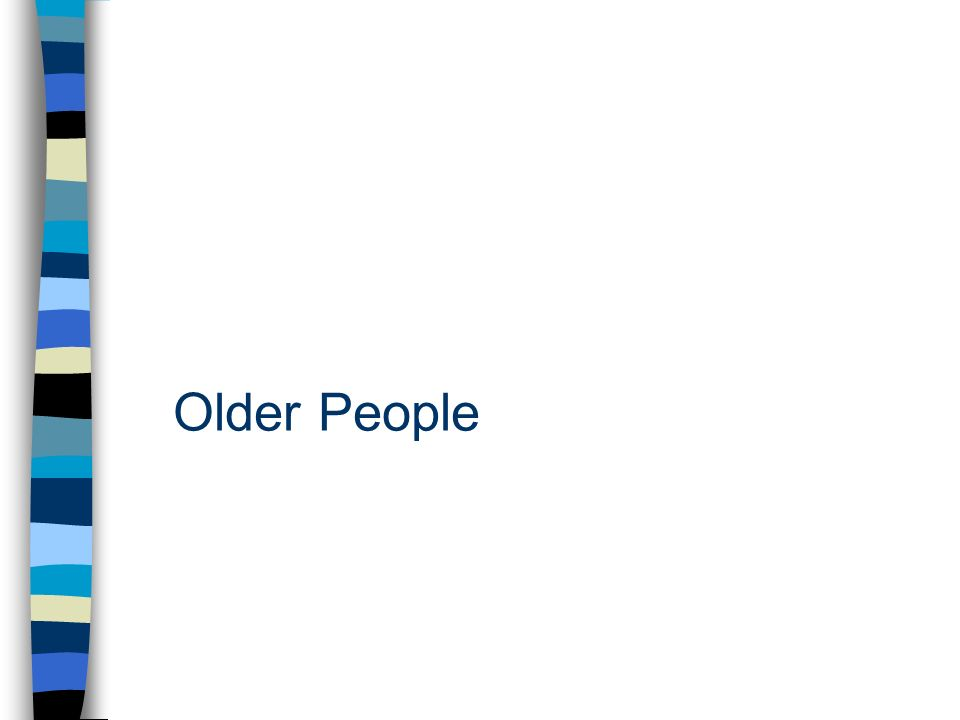 problems faced by old age people