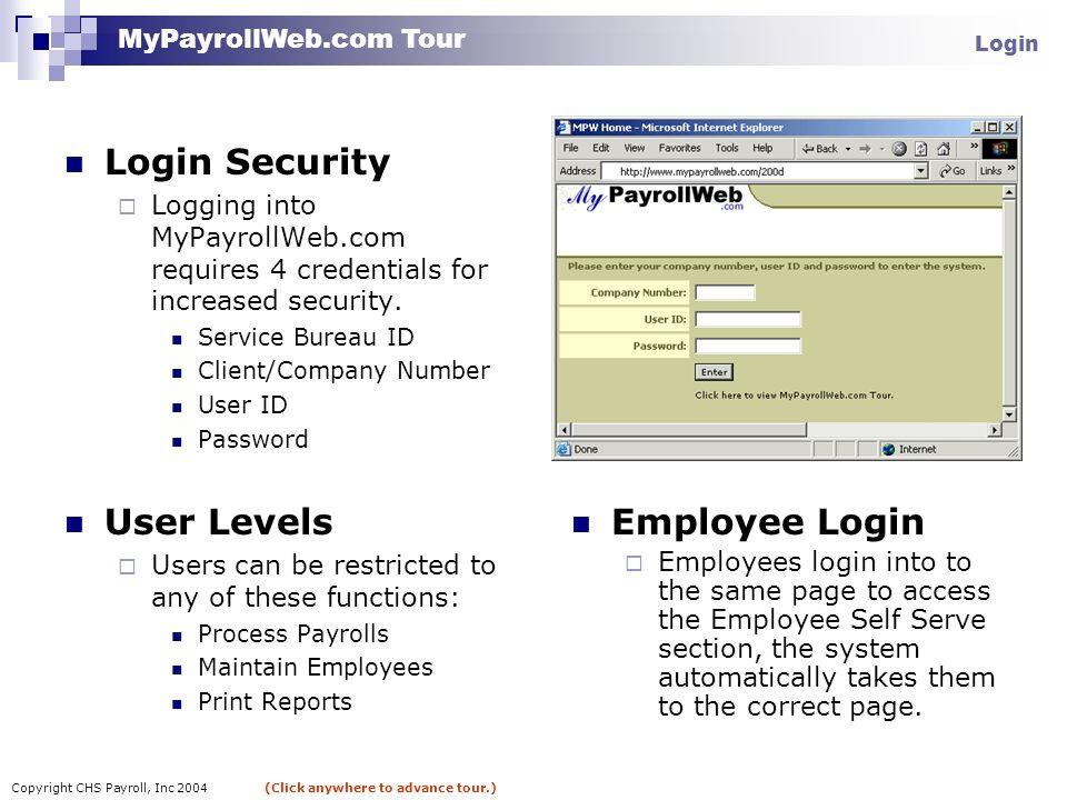 Copyright CHS Payroll, Inc 2004 (Click anywhere to advance