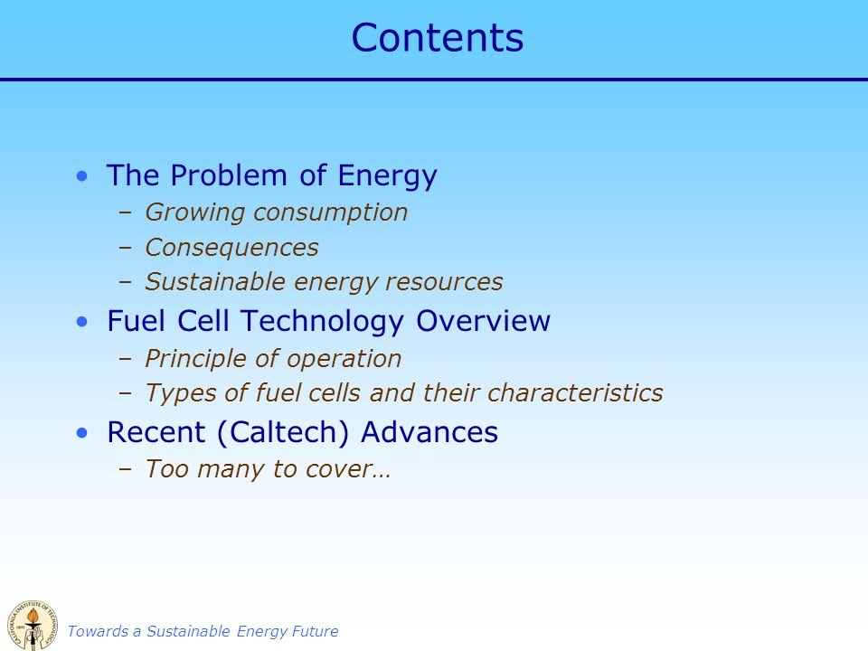 Fuel Cells for a Sustainable Energy Future Sossina M  Haile