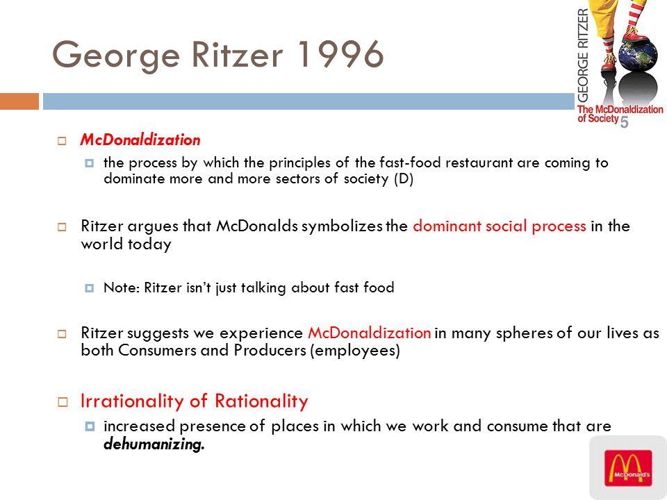 control in mcdonaldization