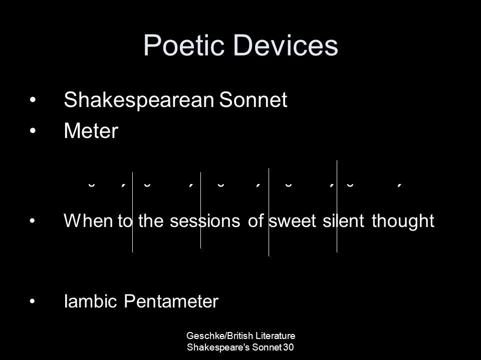 shakespeare sonnet 30
