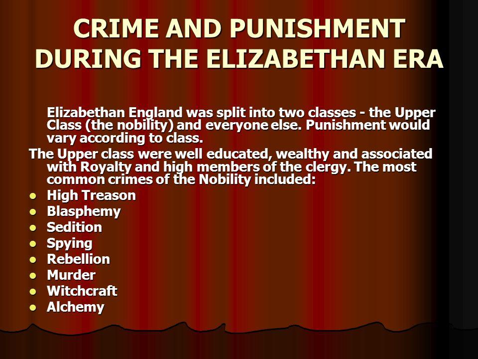 crime in elizabethan england