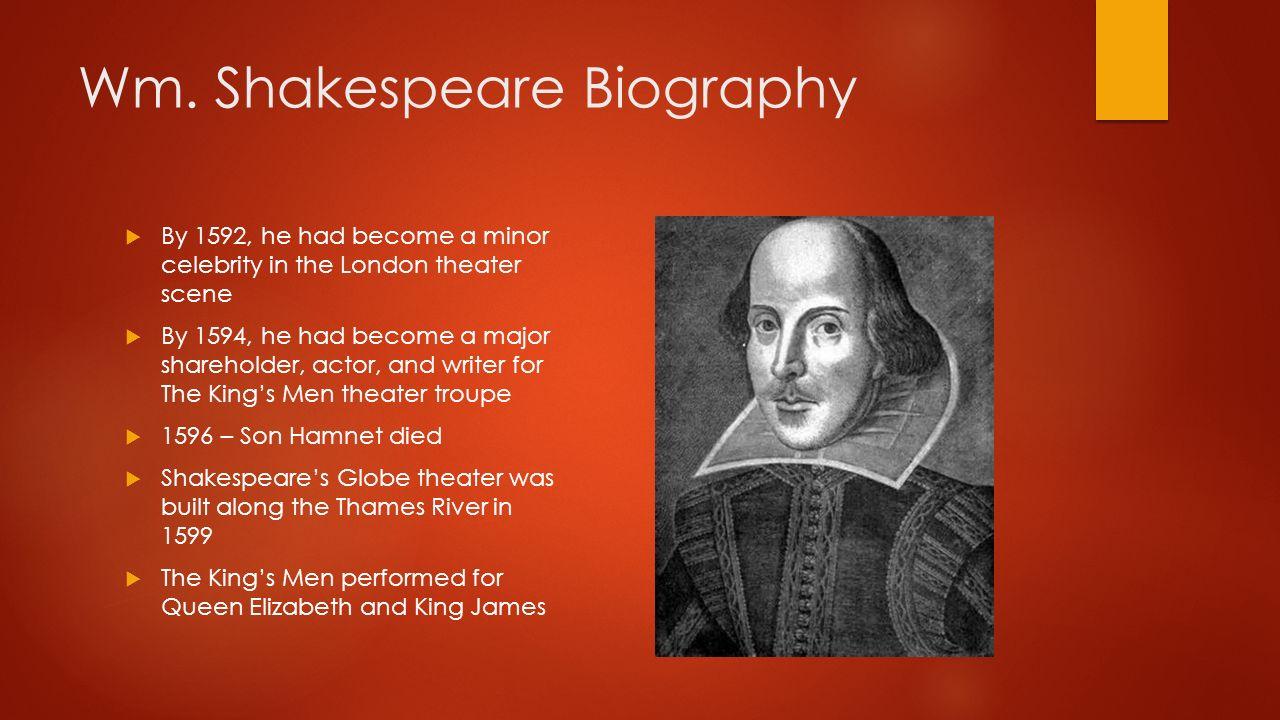 William shakespeare life and works  authorstream.