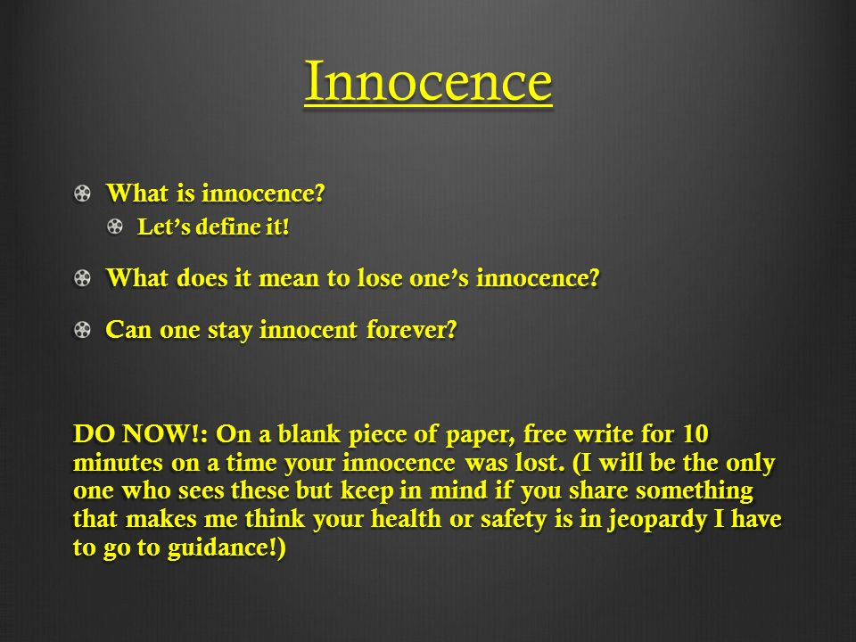 loss of innocence shakespeare ms mitchell freshman literature