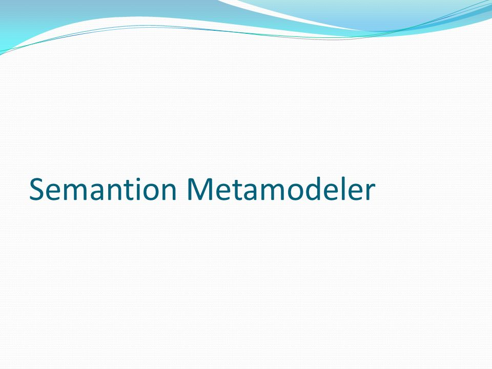 Semantion Metamodeler