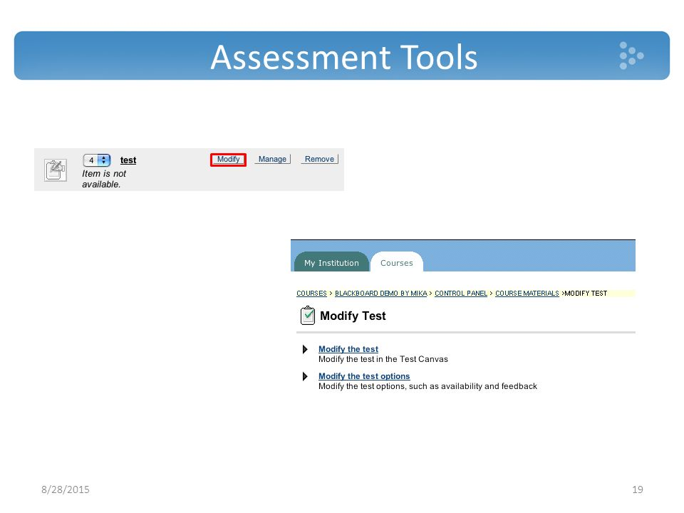 Assessment Tools 8/28/201519