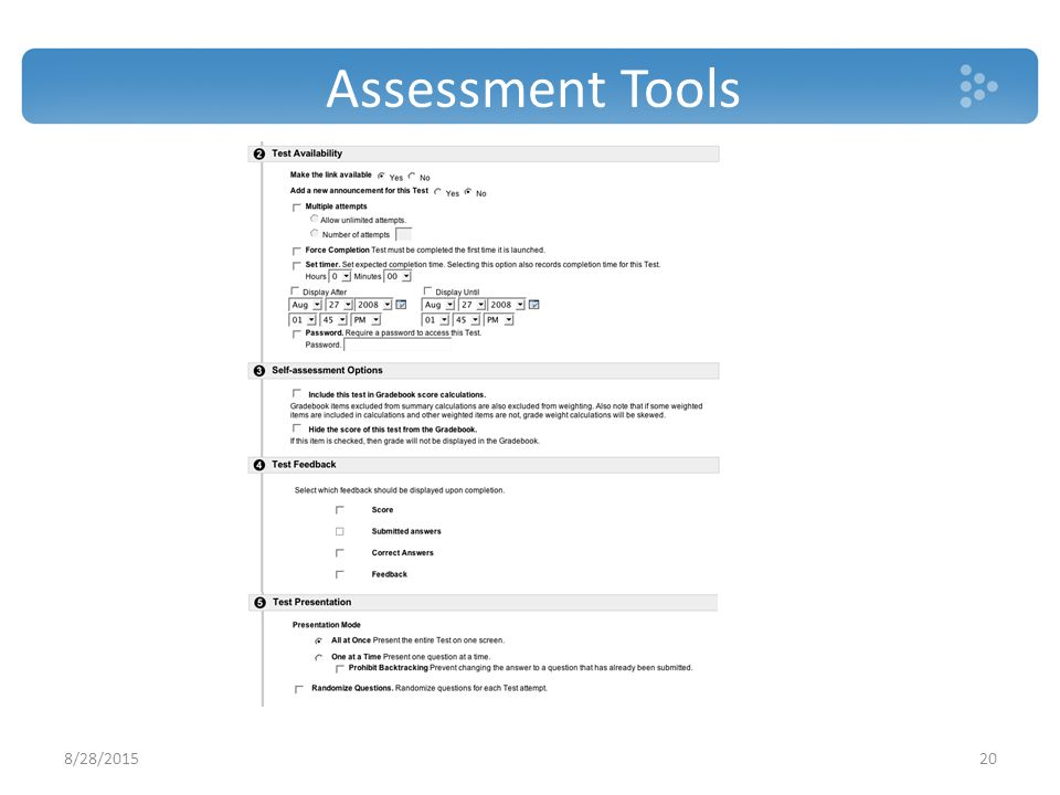 Assessment Tools 8/28/201520
