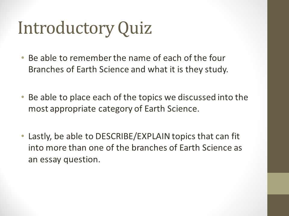 easy questions about earth