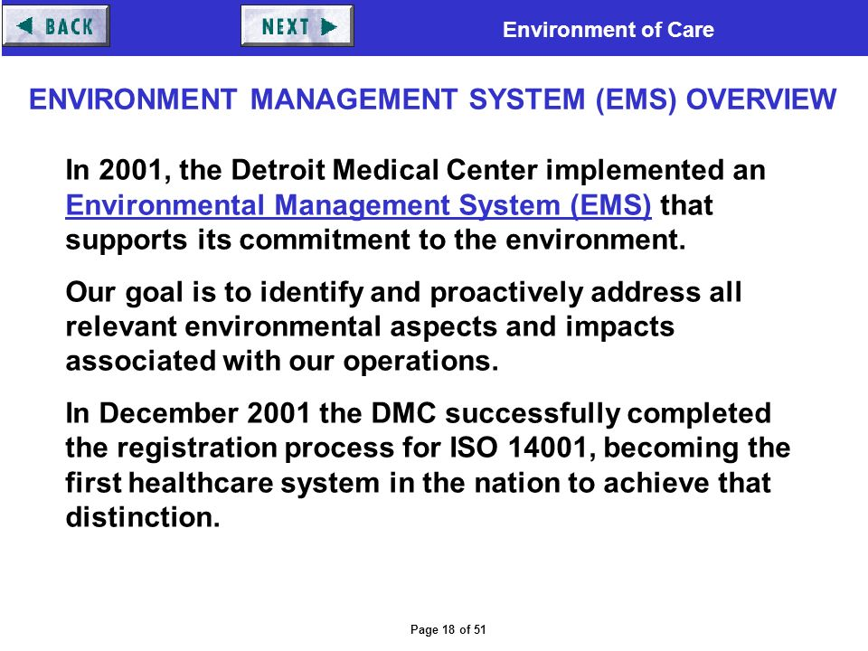Environment of Care Page 1 of 51 ENVIRONMENT OF CARE