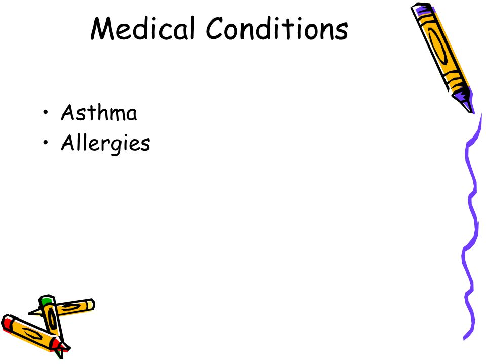 Medical Conditions Asthma Allergies