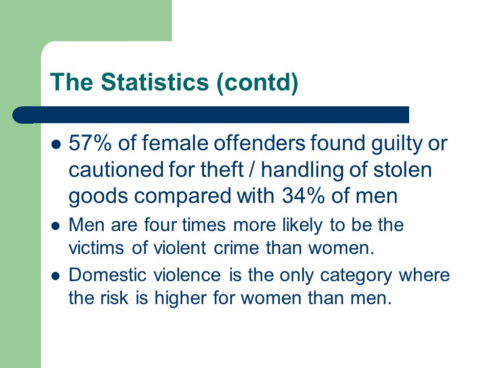 Why Males Are More At Risk Than Females >> Crime And Gender The Statistics Males Commit Most Crime 4 In 5