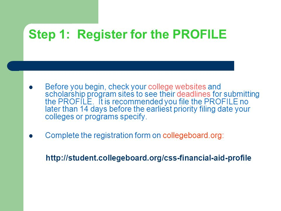 The Css Financial Aid Profile For Private Colleges And Universities
