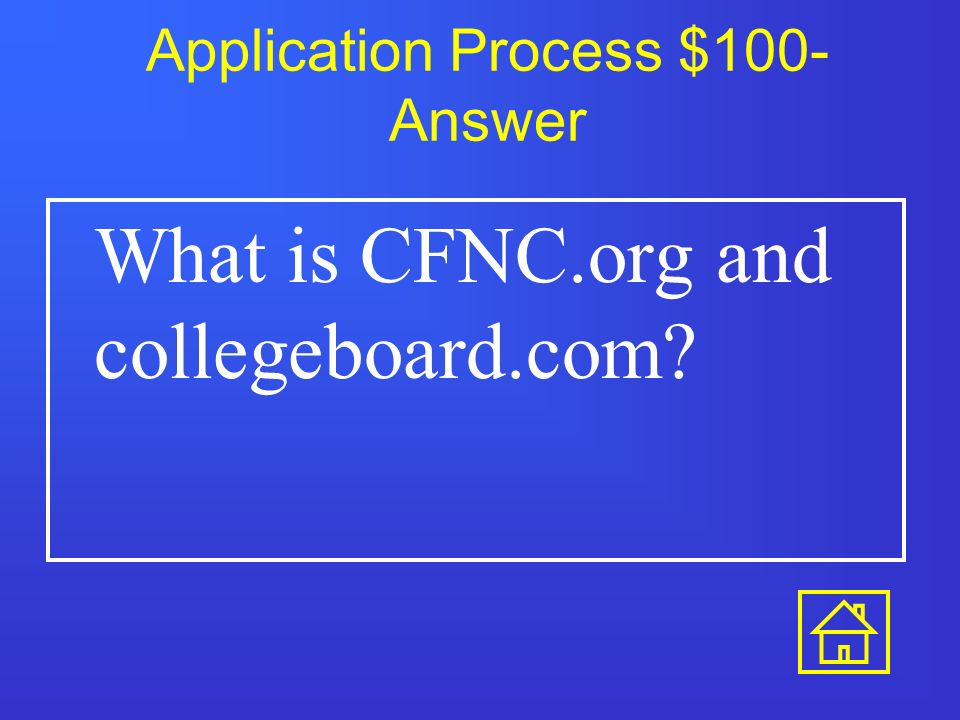 Application Process $500 True or False: GPA and class rank are the only important parts of the application.