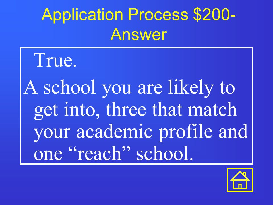Application Process $100- Answer What is CFNC.org and collegeboard.com