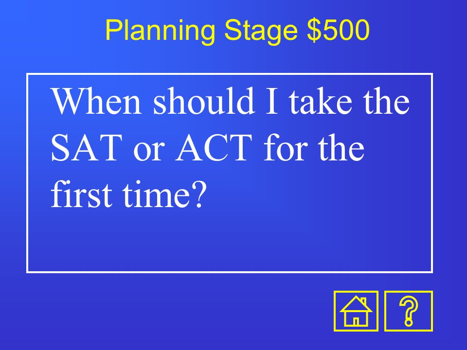 Planning Stage $400 When should you visit colleges
