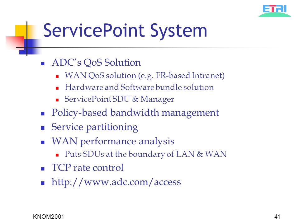QoS Strategies for Multiservice Networks Internet Performance Survival Guide