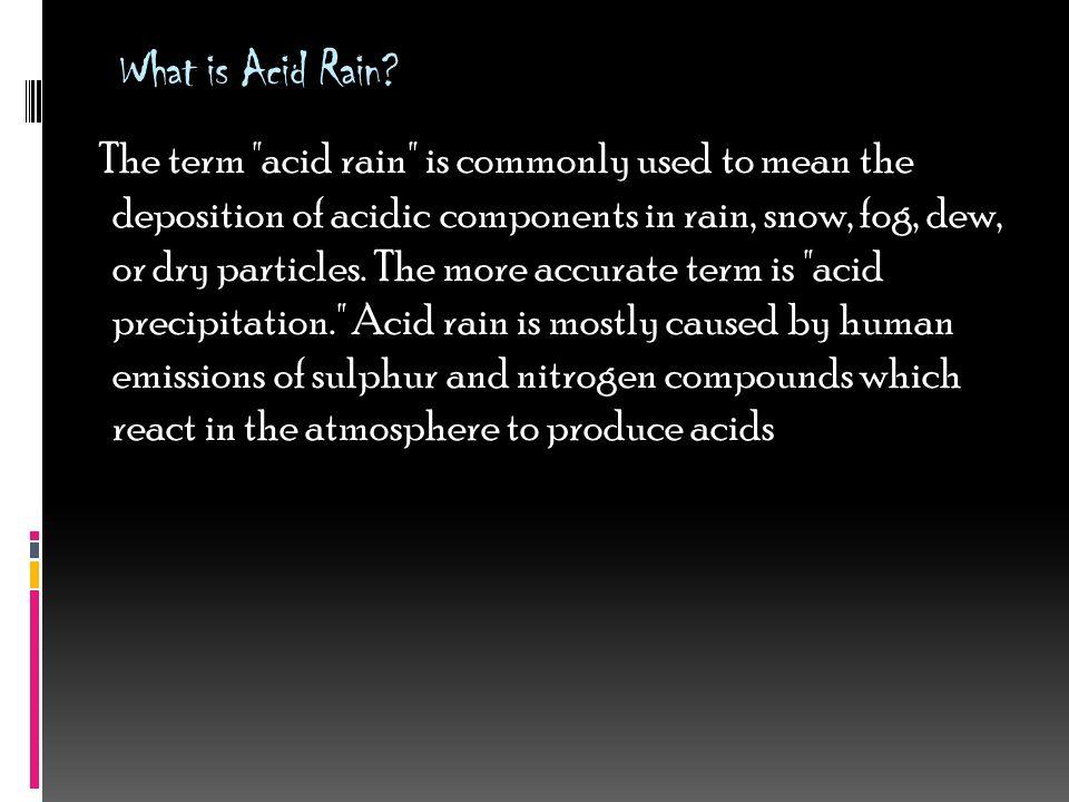 acid rain introduction