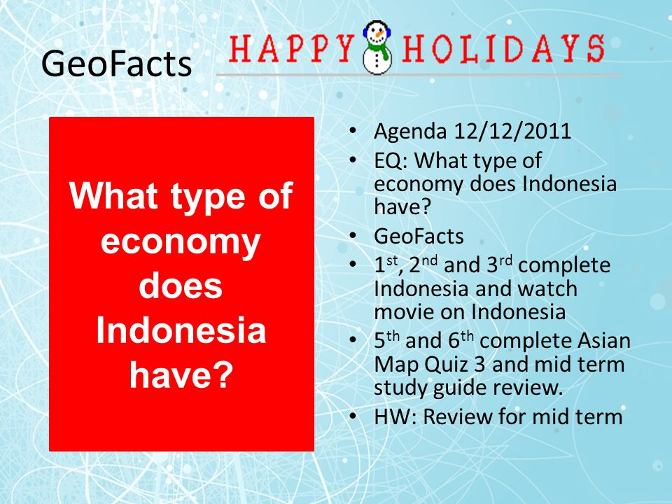 what type of economy does indonesia have