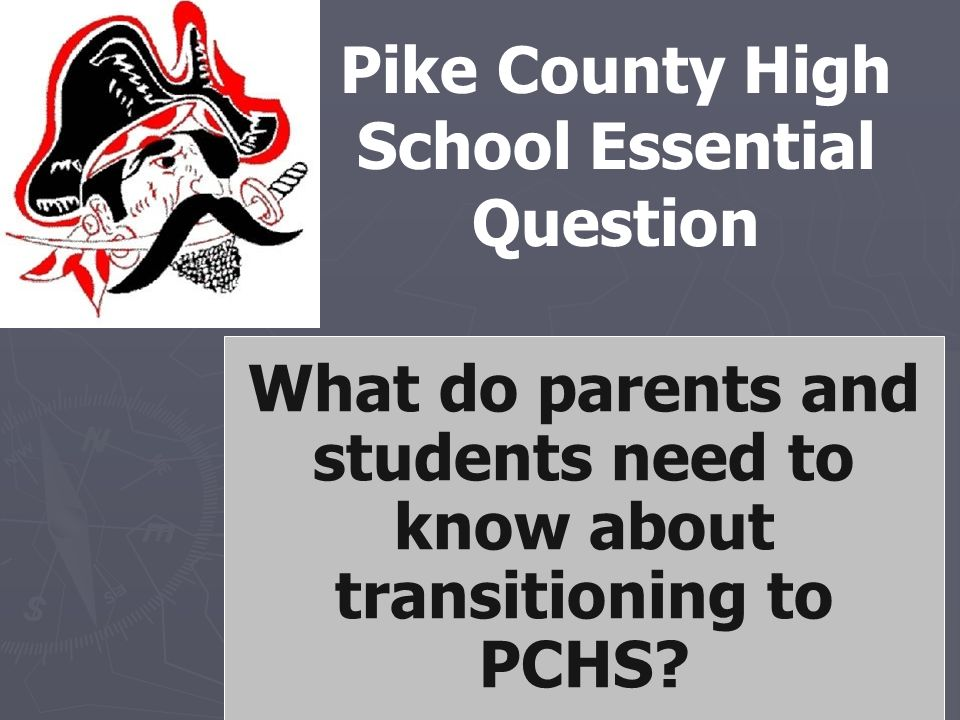 Pike County High School Essential Question What do parents and students need to know about transitioning to PCHS