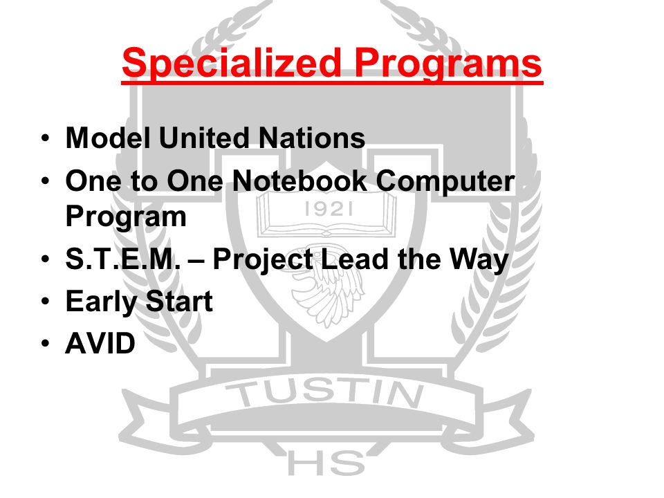 Specialized Programs Model United Nations One to One Notebook Computer Program S.T.E.M.