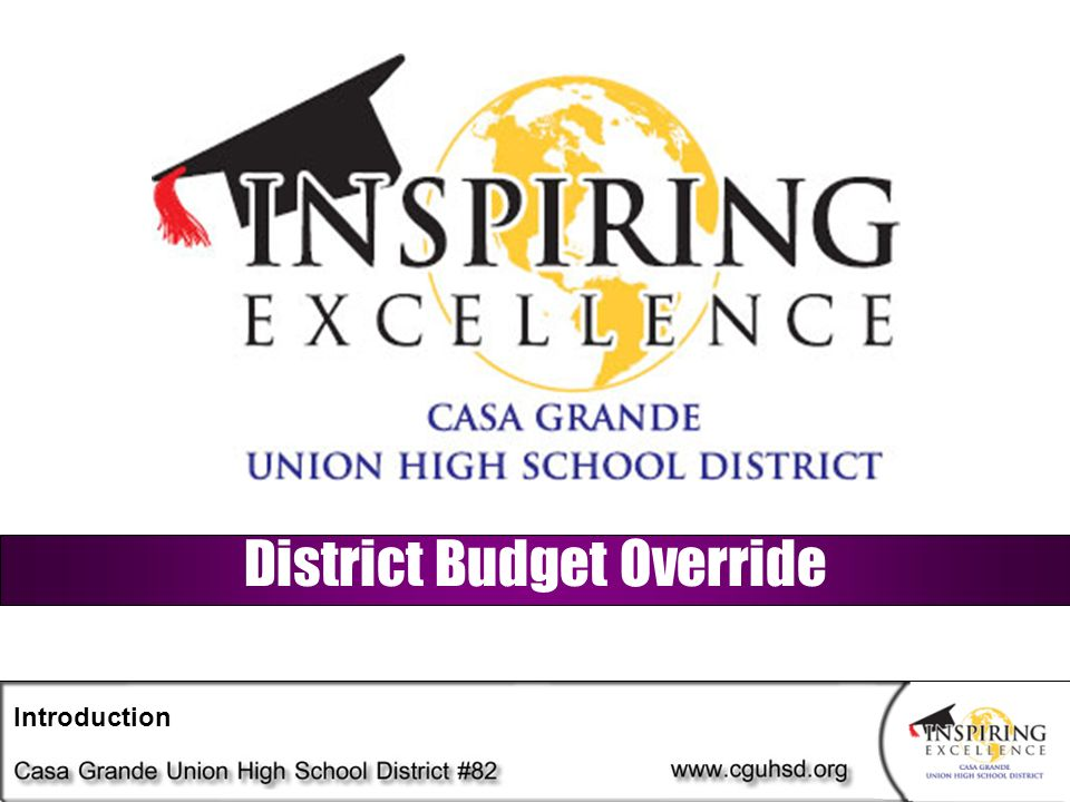 District Budget Override Introduction