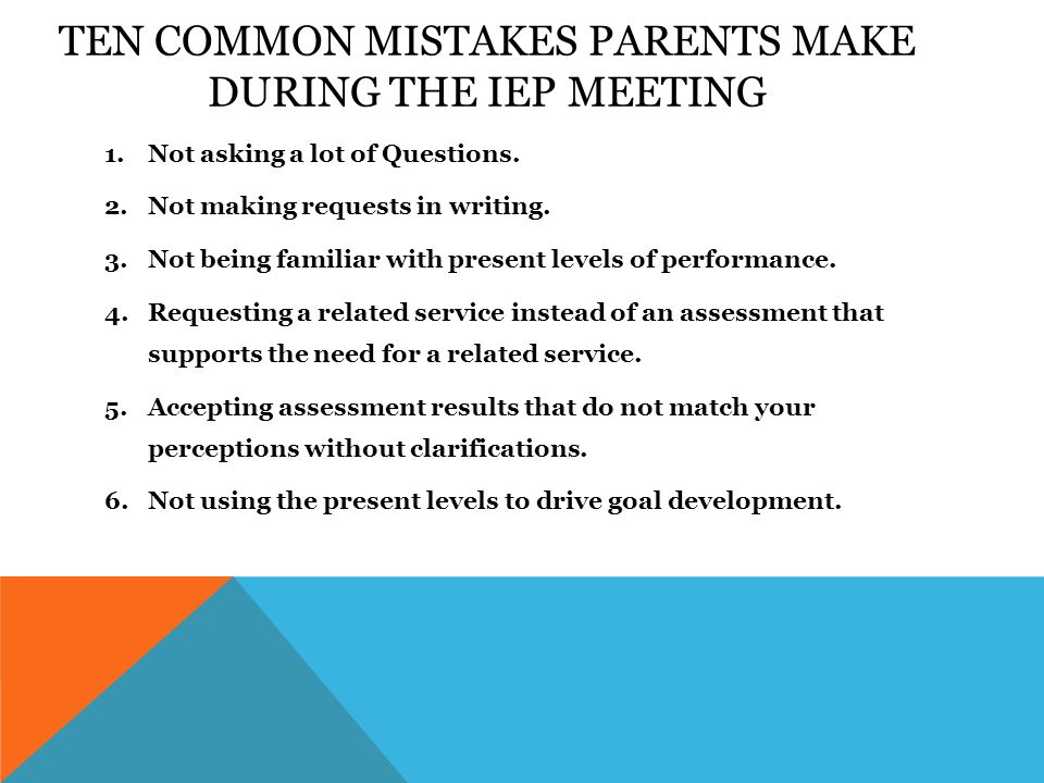 Ten Common Mistakes Parents Make During >> Cracking The Code Of Special Education Presented By Eli Gallup