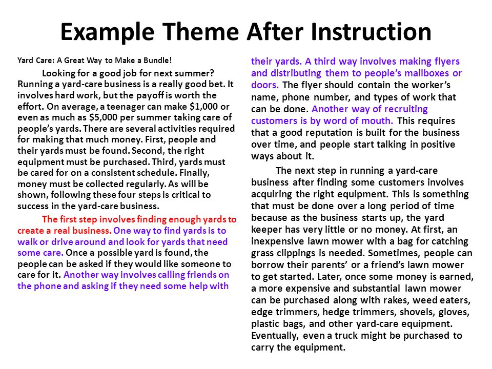 Example Theme After Instruction Yard Care: A Great Way to Make a Bundle.