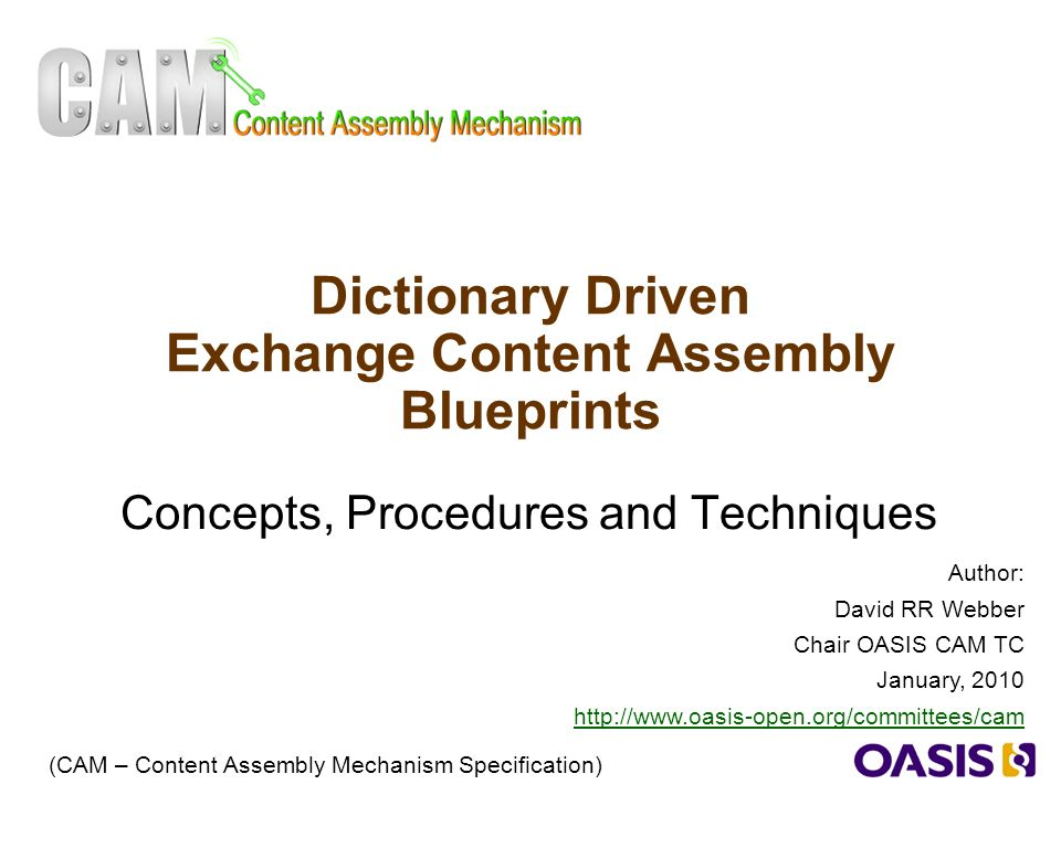 1 dictionary driven exchange content assembly blueprints concepts 1 1 dictionary driven exchange content assembly blueprints concepts procedures and techniques cam content assembly mechanism specification author malvernweather Image collections